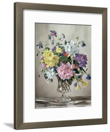 Rhododendrons, Azaleas and Columbine in a Glass Vase