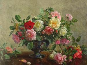 Rose Bowl Filled with Roses by Albert Williams
