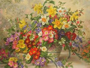 Spring Flowers and Poole Pottery, No. 2 by Albert Williams