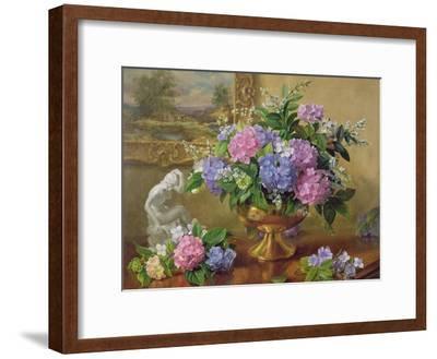Still Life of Hydrangeas and Lilacs