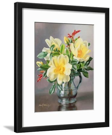 Yellow Roses in a Tankard