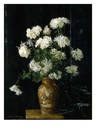 Chrysanthemums in an Oriental Vase