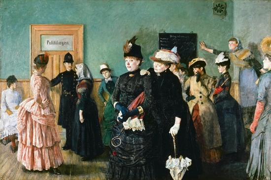 Albertine at the Police Doctor's Waiting Room-Christian Krohg-Giclee Print