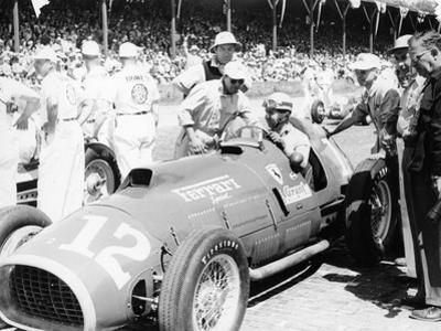 Alberto Ascari at the Wheel of a 4.5 Litre Ferrari, Indianapolis, 1952
