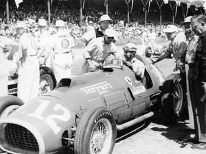 Alberto Ascari at the Wheel of a 4.5 Litre Ferrari, Indianapolis, 1952