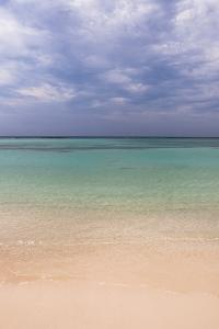 Scenic of Water and Beach, Baby Beach, Aruba, Lesser Antilles, Caribbean by Alberto Biscaro