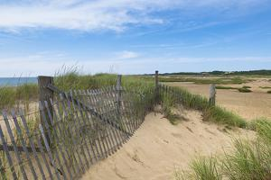 Wooden Fence on Beach, Provincetown, Cape Cod, Massachusetts, USA by Alberto Biscaro