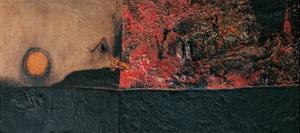 Red Black and Burning by Alberto Burri