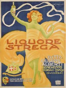Poster Advertising 'strega' Liquer, 1906 (Colour Litho) by Alberto Chappuis