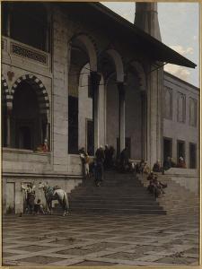 Porte de la Mosquée de Yéni-Djami à Constantinople by Alberto Pasini