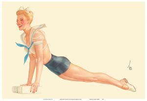 Miss April Sailor Girl - I'm Going To Join The Navy by Alberto Vargas