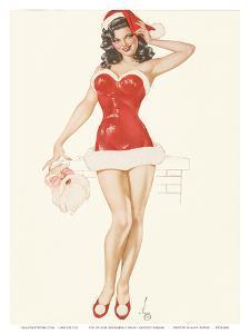 Pin Up Girl December c.1940s by Alberto Vargas