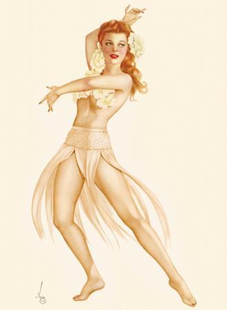 Tropical Dancer Pin-up Girl - March, 1944 by Alberto Vargas