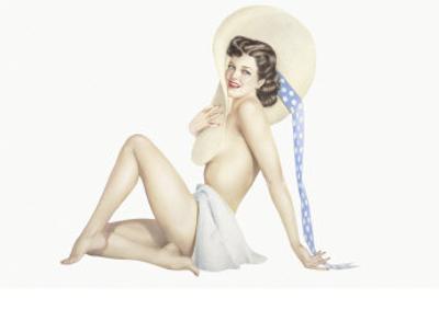 Varga Girl, September 1942 by Alberto Vargas