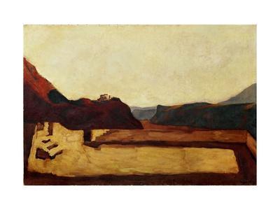 Am Kalvarienberg bei Bozen - Calvary near Bolzano, Italy,1922