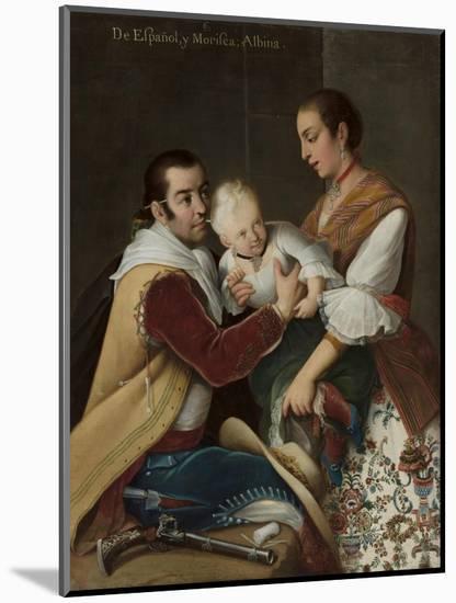 Albino Girl from Spaniard and Morisca, 1763-Miguel Cabrera-Mounted Premium Giclee Print
