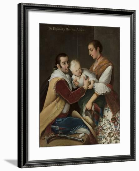 Albino Girl from Spaniard and Morisca, 1763-Miguel Cabrera-Framed Giclee Print