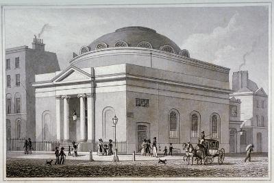 Albion Chapel, London, C1827-Thomas Hosmer Shepherd-Giclee Print
