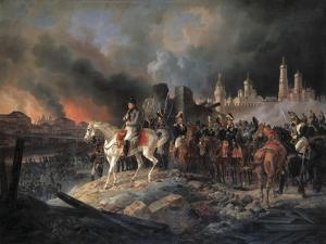 Napoleon Bonaparte in Moscow, 1840 by Albrecht Adam