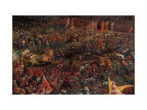 Die Schlacht Bei Issus 333 V.Chr. (Alexanderschlacht), 1529. Detail by Albrecht Altdorfer