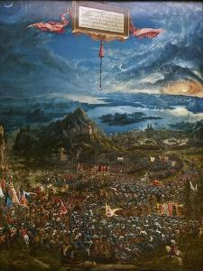 The Battle of Alexander at Issus, 1529 by Albrecht Altdorfer