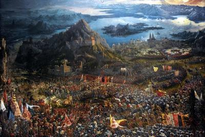 The Battle of Alexander at Issus. Oil Painting by the German Artist Albrecht Altdorfer