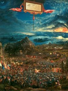 The Battle of Issus 333 B.C. (The Victory of Alexander the Great), 1529 by Albrecht Altdorfer