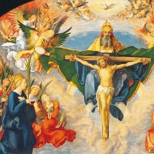 Adoration of the Holy Trinity (Landauer Altarpiece) by Albrecht D?rer