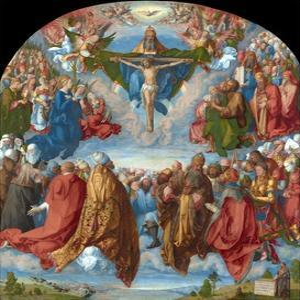 Adoration of the Trinity (Landauer Altarpiece) by Albrecht D?rer