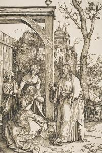 """Christ Taking Leave of His Mother, from the Series """"The Life of the Virgin"""", C.1504-05 by Albrecht D?rer"""