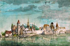 Innsbruck Seen Across the River Inn, 1495 by Albrecht D?rer