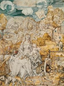 Madonna with a Multitude of Animals by Albrecht D?rer