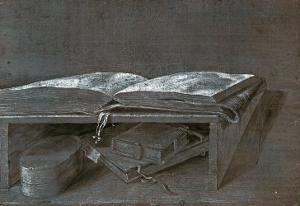Open Book, Silverpoint Drawing, 1527 by Albrecht D?rer