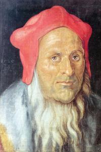 Portrait of a Bearded Man with Red Cap by Albrecht D?rer