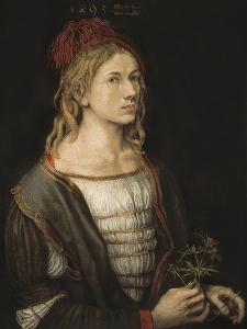 Self-Portrait or Portrait of the Artist Holding a Thistle by Albrecht D?rer