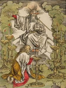 St. John on the Island of Patmos Receives Inspiration from God to Create the Apocalypse, 1498 by Albrecht D?rer