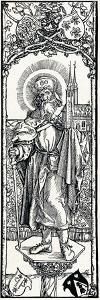 St Sebaldus on a Capital, by Albrecht D?rer