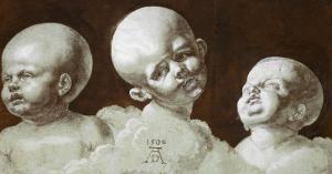 Studies of Heads, 1506, Drawing by Albrecht D?rer