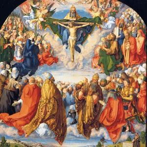 The Adoration of the Holy Trinity (the Landauer Altarpiece) by Albrecht D?rer