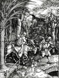 The Flight into Egypt, from the 'Life of the Virgin' Series, Published in 1511 (Woodcut) by Albrecht D?rer