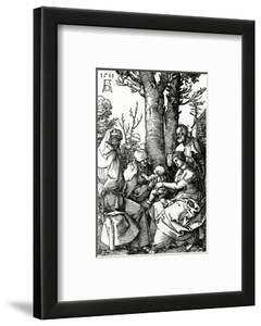 The Holy Family with St. Anne and St. Joachim, 1511 (Woodcut) by Albrecht D?rer