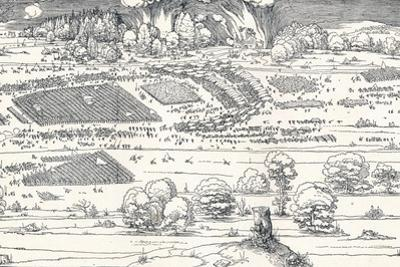 The Siege of a Fortress Ii, 1527 by Albrecht D?rer