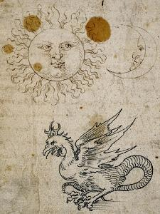 The Sun, The Moon and a Basilisk, Around 1512 by Albrecht D?rer