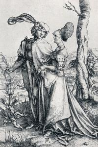 Young Couple Threatened by Death (Or the Promenade), 1495, by Albrecht D?rer