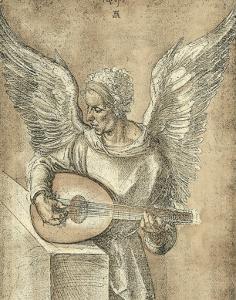 Angel with Lute by Albrecht Dürer