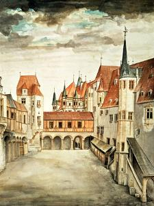 Castle Courtyard, Innsbruck (W/C) by Albrecht Dürer