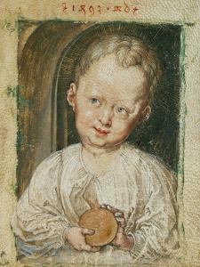 Christchild holding the Orb. Watercolour (1493). by Albrecht Dürer
