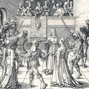 Dance by Torchlight, Augsburg, 1516 by Albrecht Dürer