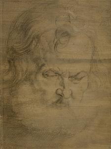 Etude de tête d'homme barbu pour l'apôtre Pierre du tableau de Munich by Albrecht Dürer