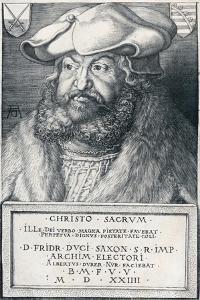 Frederick the Wise, Elector of Saxony, 1524 by Albrecht Dürer
